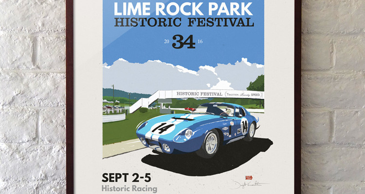 The Official Lime Rock Historic Festival Giclee Print by Dwight Knowlton