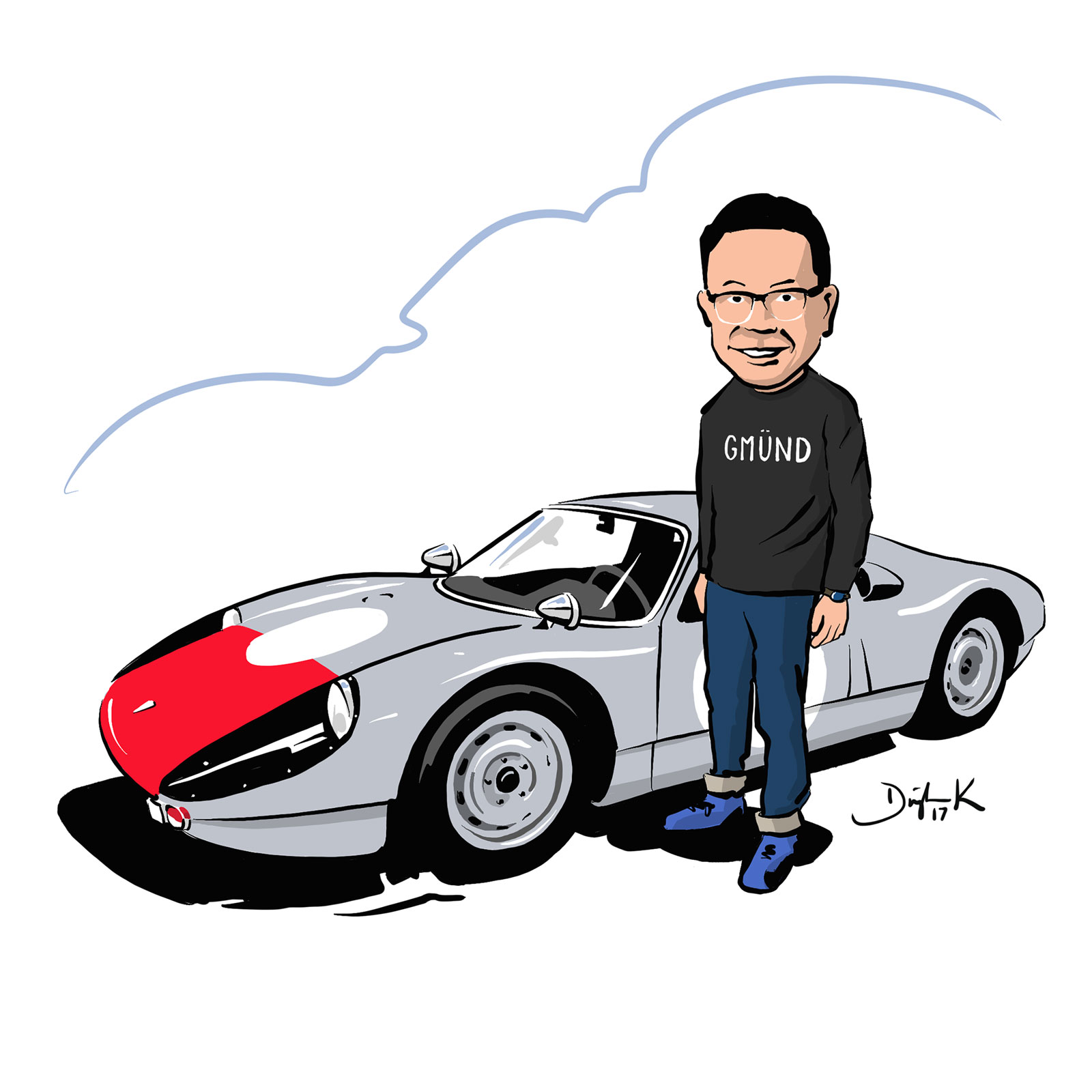 Porsche 904 CARicature by Dwight Knowlton