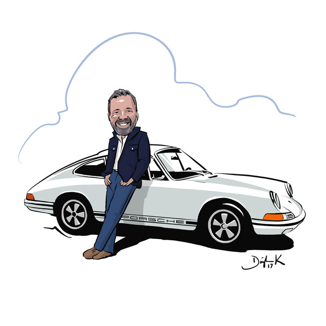 Porsche 911 CARicature by Dwight Knowlton